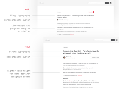 Always make it 10 percent better typography layout product-design simple