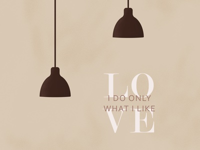 I love my job interior lamp limp drawing text graphic design vector illustration work love