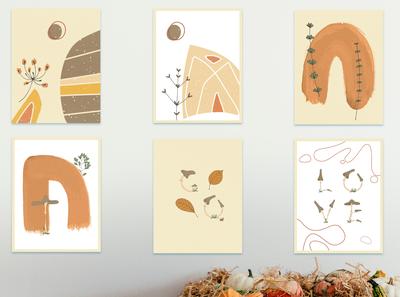 Warm Autumn. Pre-Made Card