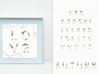 Warm Autumn Illustration. Alphabet
