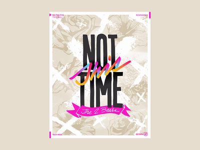 Not This Time typography type script music lettering letter illustration graphic design graphic font