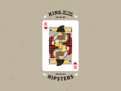 King of the Hipsters illustrator illustration