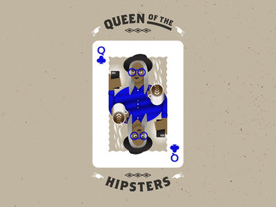 Queen of the Hipsters typography illustration illustrator