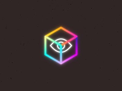 Eye's Cube. gradient illustration illustrator