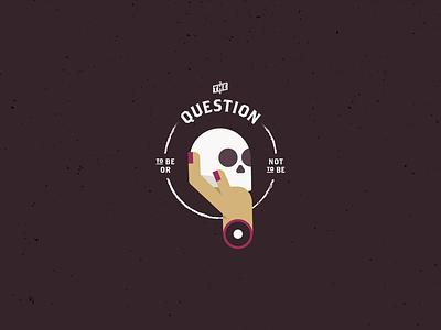Hamlet's Question skull icon illustrator illustration