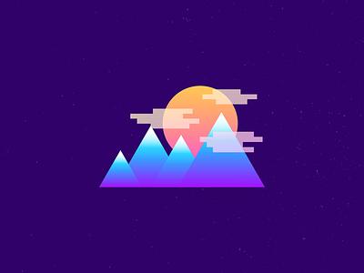 The Mountains illo drawing illustrator illustration