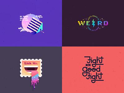 2018 illustrator typography vector illustration
