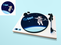 The Edit: Turntable Slipmat Illustration