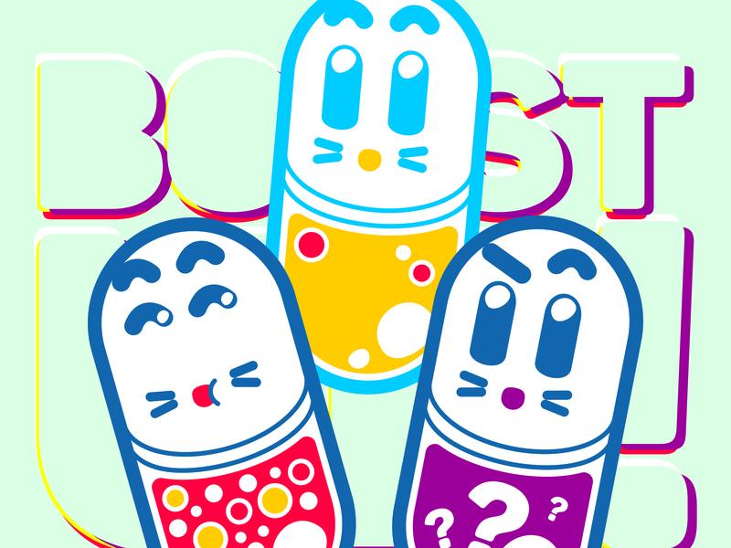Sofa 2016 Exhibit [ The Pills ] vector illustration kawaii character design