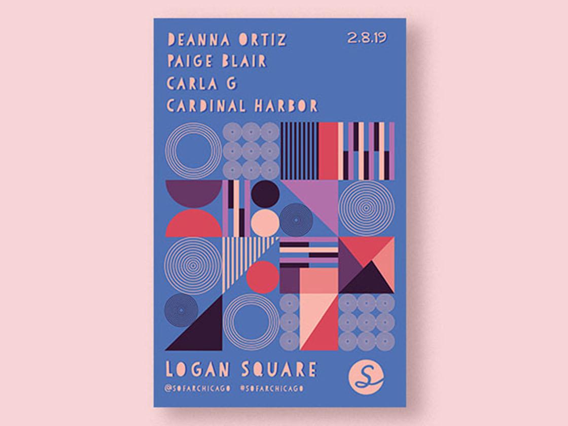 Sofar Sounds Poster Design design modern typography layout design layout poster design vector illustration illustrator