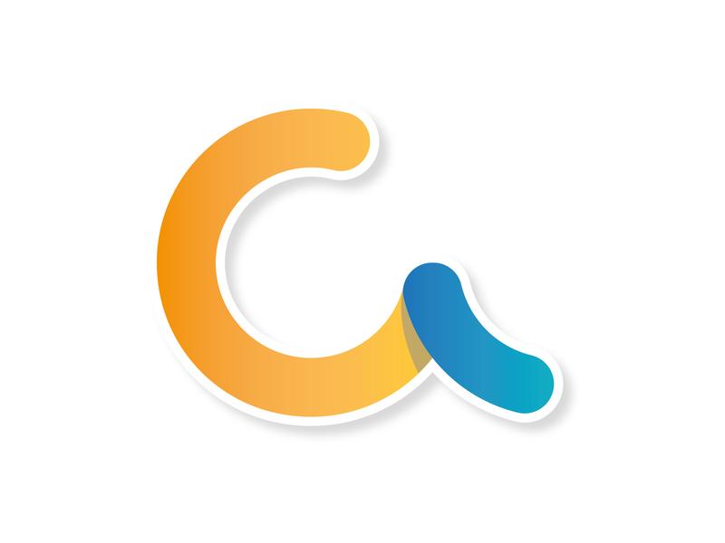 C - Logo Design round corners round logo c letter c logo gradient 2d logo design logo