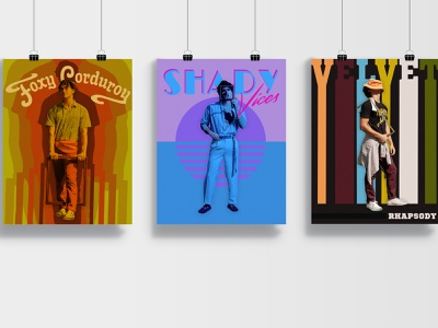 Framework Poster Set retro vibes poster design