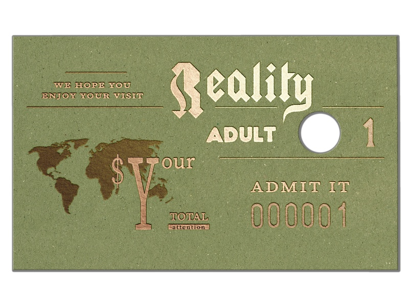 Ticket to Reality photoshop design poster illustration
