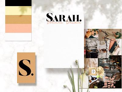 Sarah. Brand Board logo mood board moodboard brand branding design illustration
