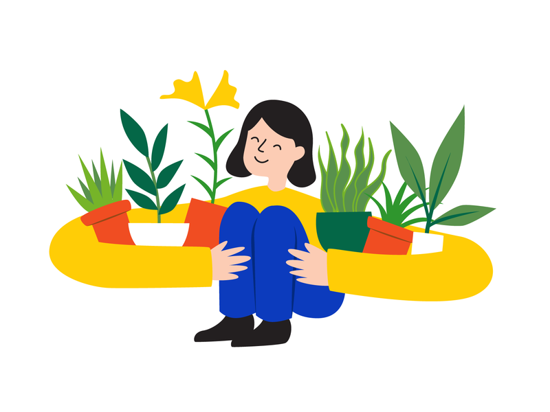 Plant Lover plants character art character design illustrator vector illustration