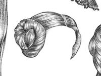 Hair Tattoo Sketches