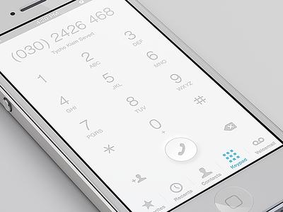 Keypad iphone ios light clean keypad