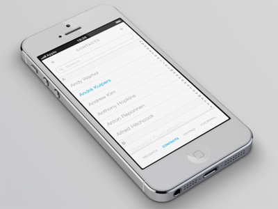 iOS Phone App Contacts