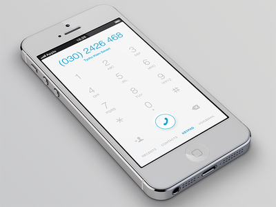iOS Phone App Keypad iphone ios light clean keypad