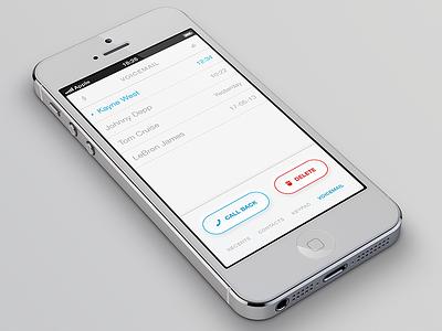 iOS Phone App Voicemail iphone ios light clean voicemail