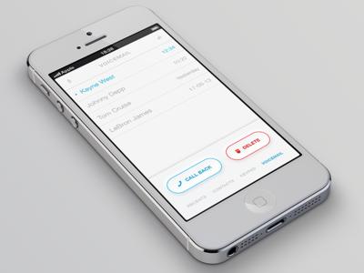 iOS Phone App Voicemail