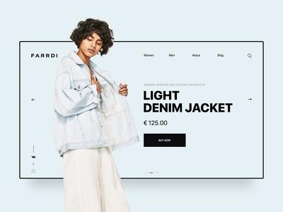 FARRDI Website Concept typography web desgin web ux design ui ux ux uidesign ui portfolio minimal interaction inspiration clean brand