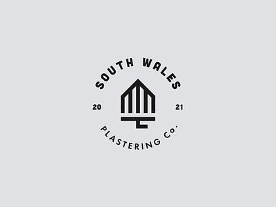 Plastering Co Logo identity mark brand logo