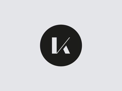 K - Initial Logo for DJ