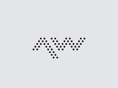 Audio Works mark brand logo letterform