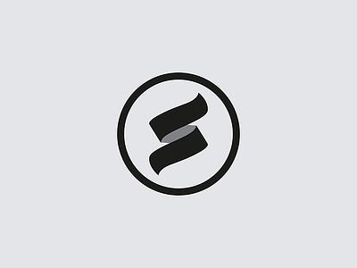 S mark brand logo letterform