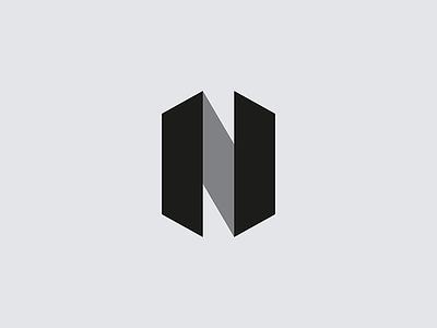 N mark brand logo letterform