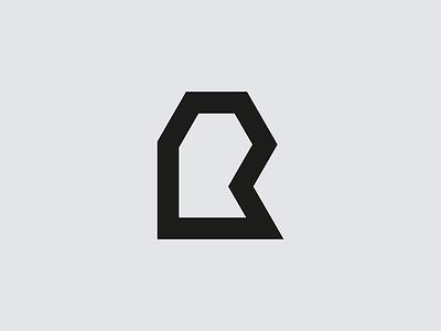 R mark brand logo letterform