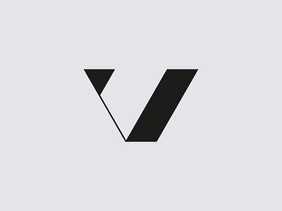 V mark brand logo letterform