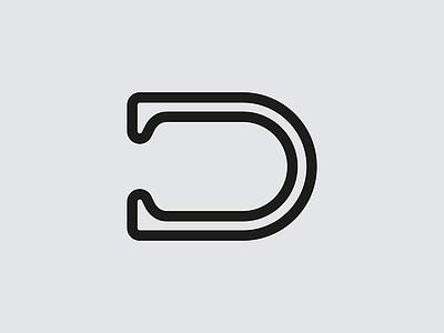 D mark brand logo letterform