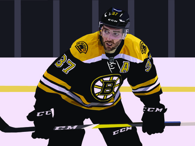 Patrice Bergeron bruins hockey design illustration