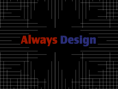 Always Design matrix grid waves always lines pattern illustrator design