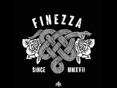 Design for FINEZZA Clothing band merch merch design merch vector shirtdesign clothing design merchandise illustration drawing design artwork art
