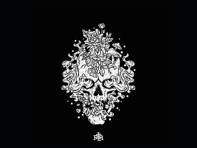 Dead Grow vintage music album logo deathmetal music skull band band merch vector shirtdesign clothing design bandmerch merch merch design merchandise illustration drawing design artwork art