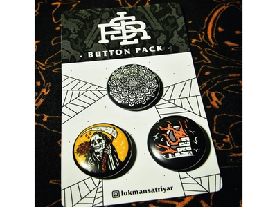 Available my pin button 1 inch, $4usd/pack