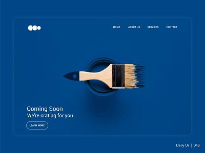 Coming Soon - Daily Ui - 048 dailyui048 branding website ux ui illustration vector design dailyuichallange dailyui