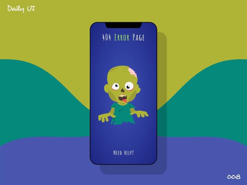 404 Page - Daily Ui - 008 illustration dailyui008 vector design mobile 404 page dailyui dailyuichallange