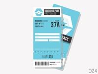 Boarding Pass - Daily Ui - 024