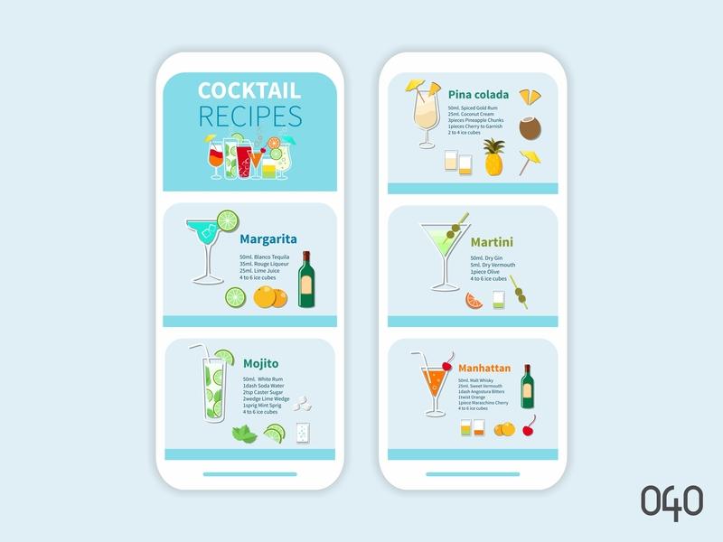 Recipe - Daily Ui - 040 card recipe app recipe icon app ui dribbble vector design dailyuichallange dailyui