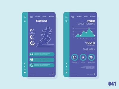 Workout Tracker - Daily Ui - 041