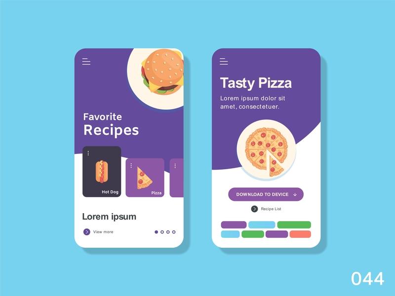 Favourite - Daily Ui - 044 favorites recipes ux app ui illustration dribbble vector design dailyuichallange dailyui