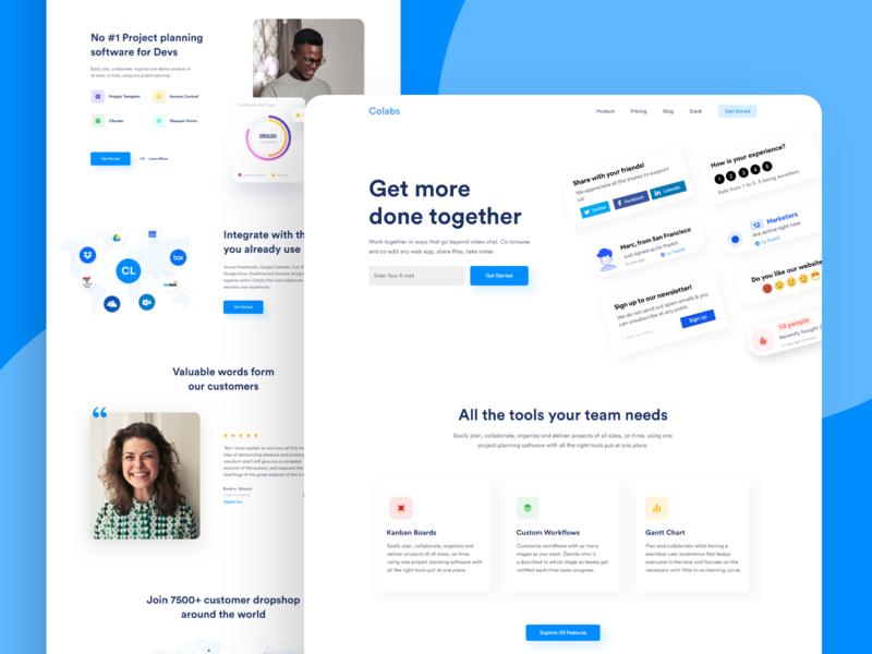 Collaboration Tools - Saas Landing Page