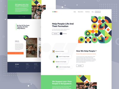 Charity Foundation - Landing Page Design