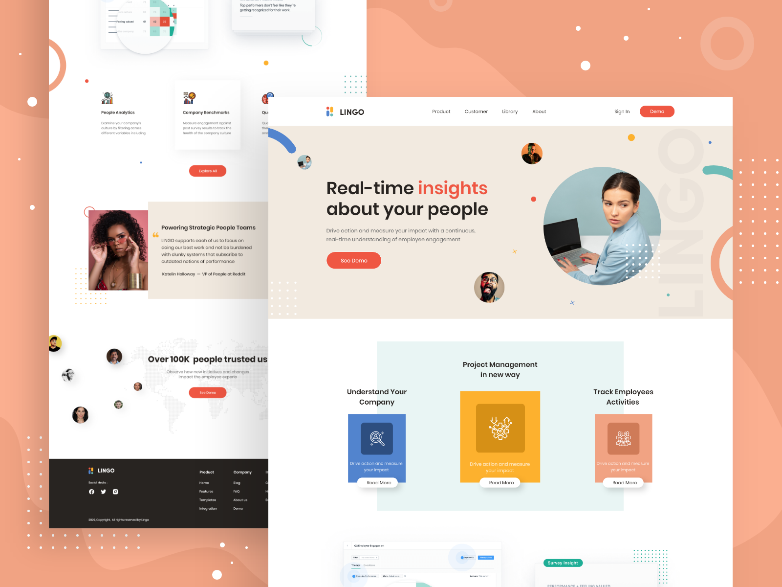 Project Management Software Landing Page Design By Rudra Ghosh On Dribbble