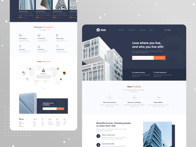 Real Estate Website Designs Themes Templates And Downloadable Graphic Elements On Dribbble
