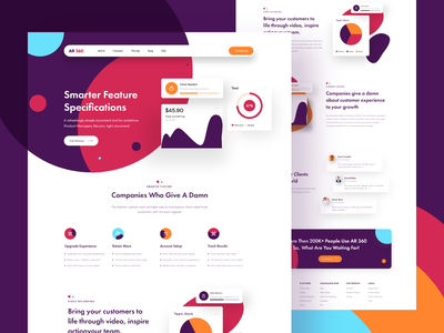Project Management Tools - Saas Landing Page saas design saas saas landing page playful color palette colorful 2020 flat website design landing page design design uiux ui clean landingpage user experience website web design user interface landing page